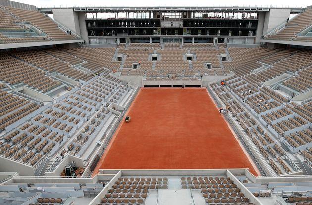 Le court Philippe-Chatrier à Roland-Garros, mai