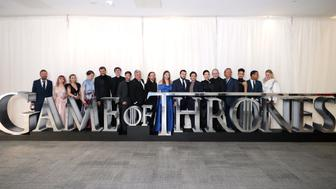 The cast and crew of Game of Thrones attending the Game of Thrones Premiere, held at Waterfront Hall, Belfast. (Photo by Liam McBurney/PA Images via Getty Images)