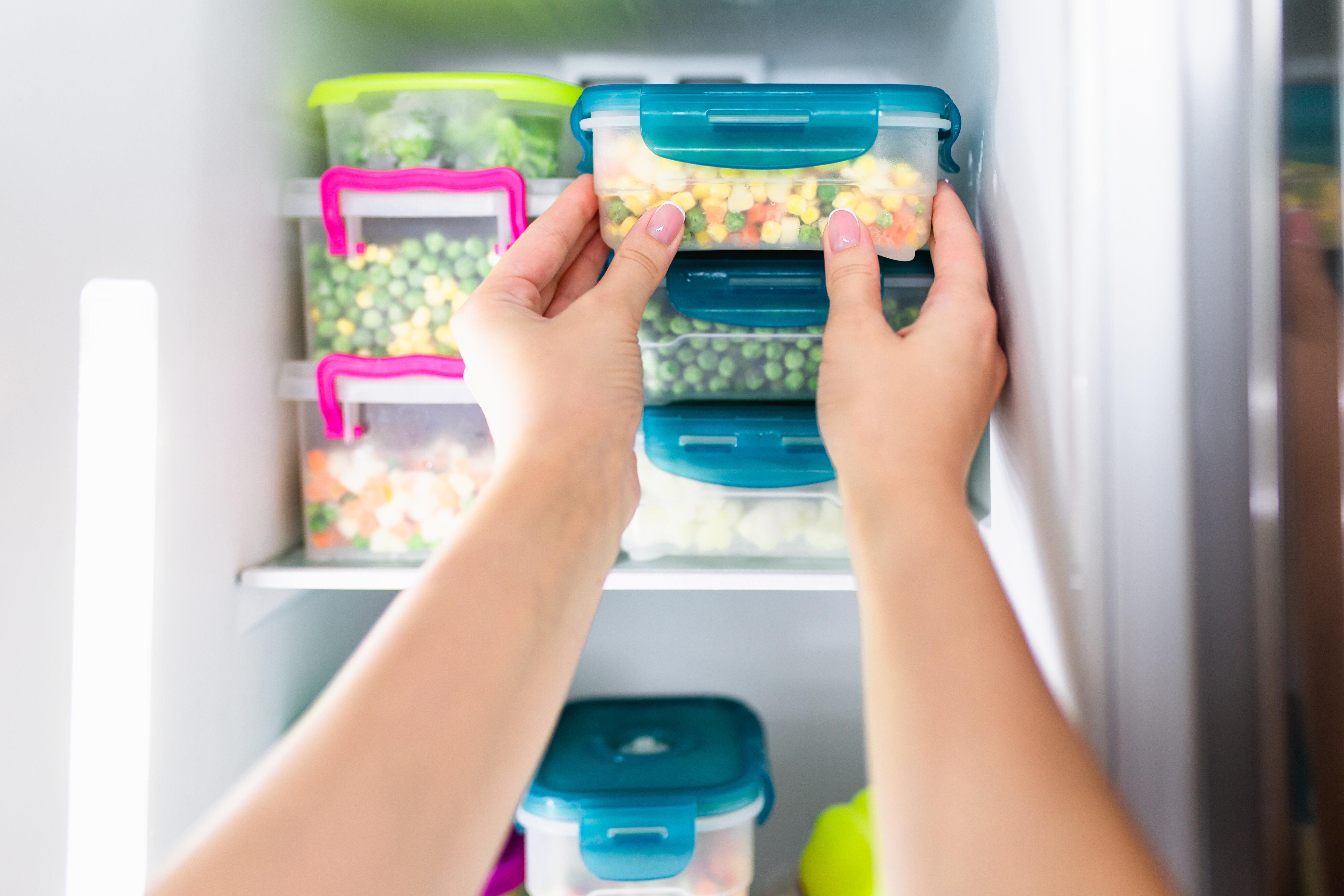 Contenitori Per Organizzare Frigo kurelle confezione da 2 frigorifero congelatore contenitori