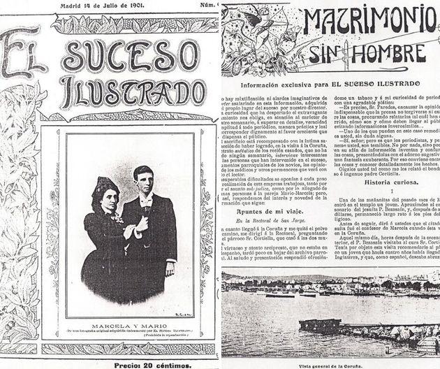 Portada y páginas del número especial de 'El suceso ilustrado' del 14 de julio de