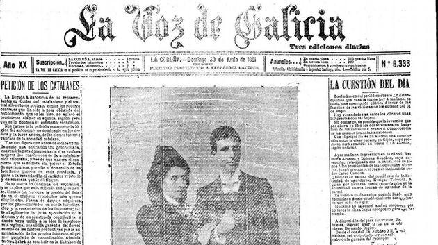 Portada de 'La Voz de Galicia' del 29 de junio y primera vez que se publica la foto de la