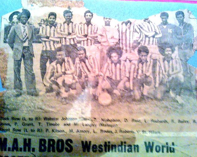 A photograph of the Learie Constantine FC team in the West Indian World