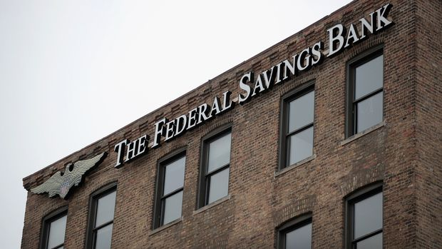 CHICAGO, IL - FEBRUARY 23:  A sign hangs above the headquarters of  The Federal Savings Bank in the Fulton Market neighborhood on February 23, 2018 in Chicago, Illinois. Special Counsel Robert Mueller claimed the bank made $16 million in personal real estate loans to President Trump's former campaign chairman Paul Manafort. The bank's chairman, Stephen Calk, served on the campaign's economic advisory panel.   (Photo by Scott Olson/Getty Images)