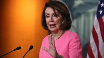 WASHINGTON, DC - MAY 23: House Speaker Nancy Pelosi (D-CA) speaks during her weekly news conference on Capitol Hill May 23, 2019 in Washington, DC. Speaker Pelosi said she is concerned for the President Trump's well being and that of the country. (Photo by Mark Wilson/Getty Images)