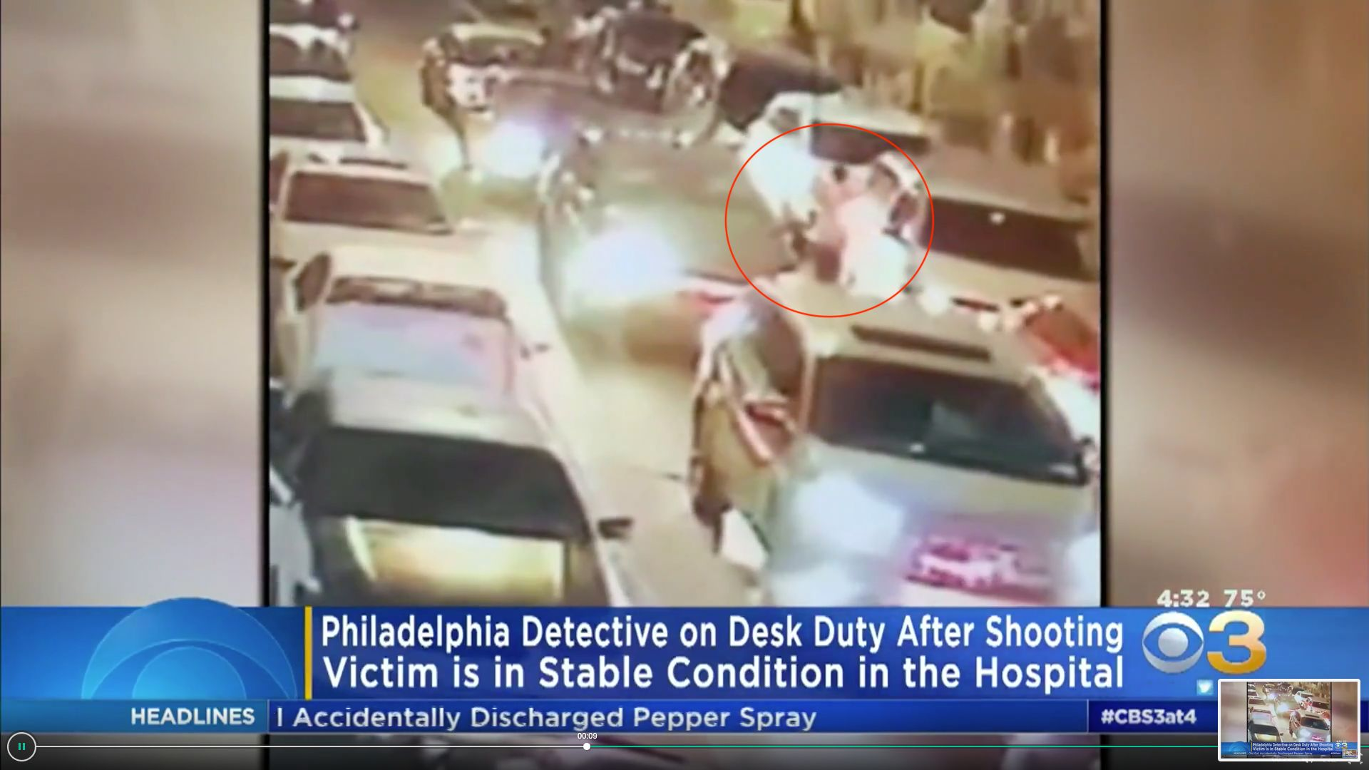 A Philadelphia man is in critical condition after authorities said he was shot through a car window by a plainclothes police detective who mistook him for an armed carjacker.