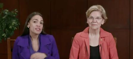 Warren and Ocasio-Cortez tore into Mnuchin Thursday in a three-minute video posted on Twitter.