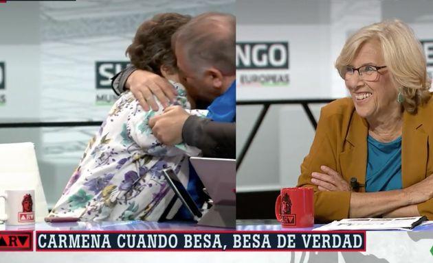 Ferreras y Cristina Almeida se besan en 'Al Rojo Vivo'