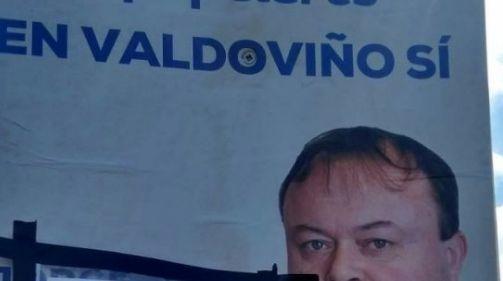 Cartel del candidato del PP en