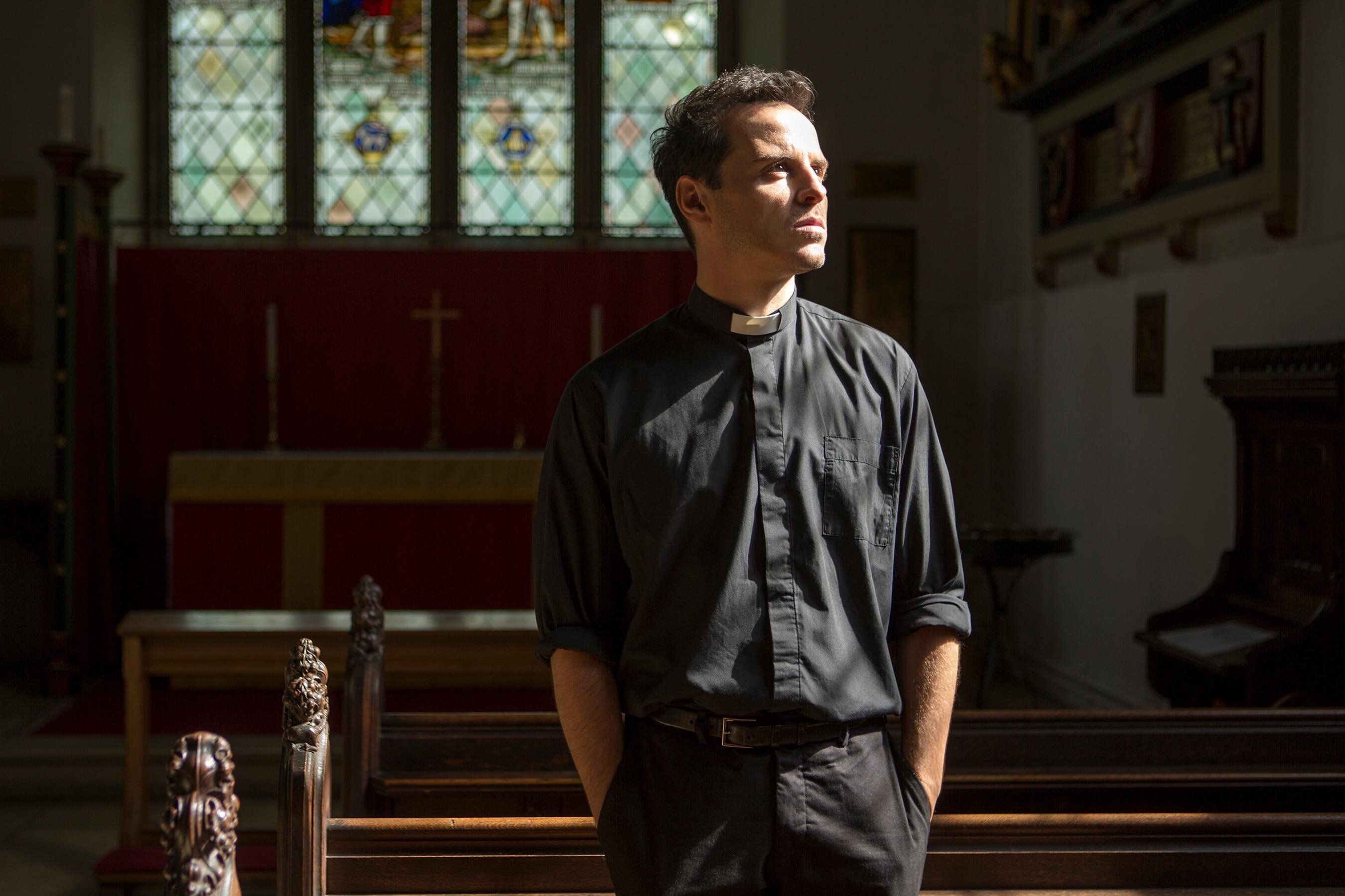 "Though he's credited simply as ""The Priest,"" Andrew Scott's character on Phoebe Waller-Bridge's <a href=""https://ew.com/creative-work/fleabag/""><em>Fleabag</em></a> is better known on the internet as the Hot Priest, having ignited a lust of biblical proportions. Scott makes the word ""kneel"" sound like a titillating order and a sexy supplication all at once. We'll never look at confession the same way again."