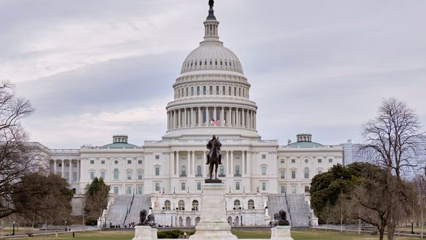The west face of the United States Capitol Building is seen in this general view. Monday, March 11, 2019, in Washington D.C. (AP Photo/Mark Tenally)