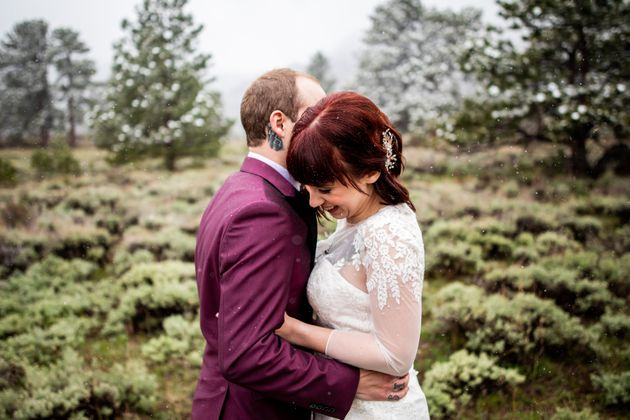 A Moose Photobombed A Couple Of Newlyweds, And The Pics Are