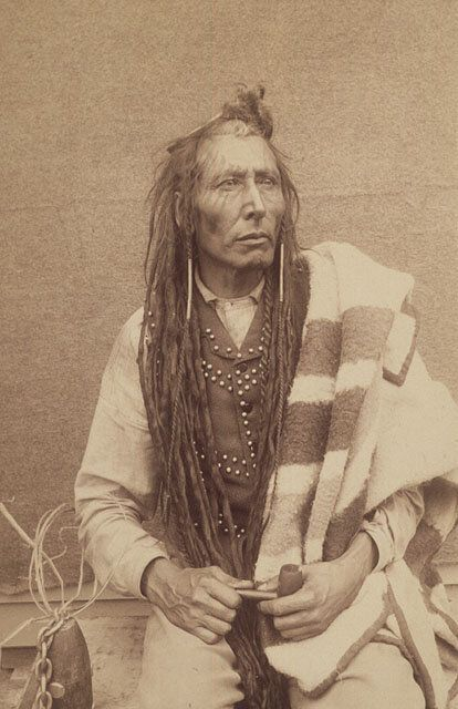 Chief Poundmaker is shown in an undated photo from Library and Archives