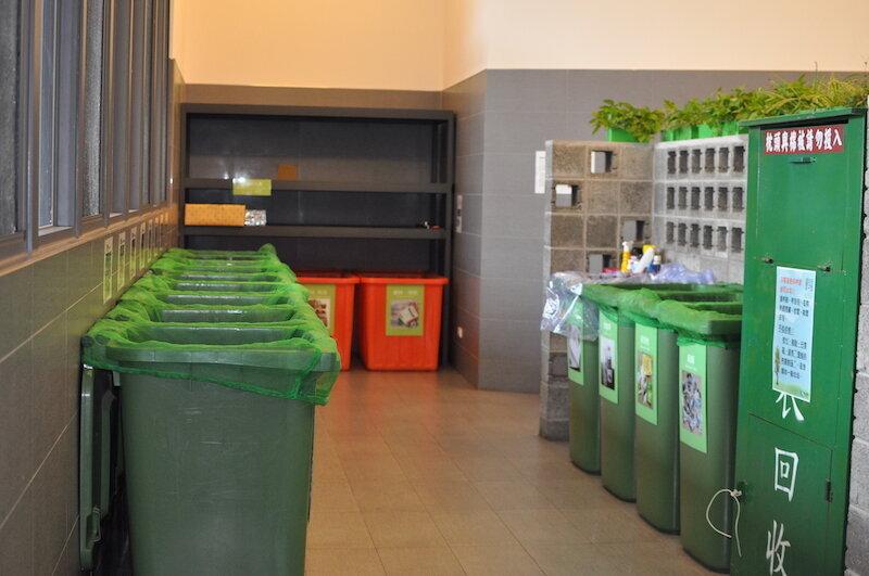 ▲環保室內分類多達26項,相當整潔清爽,垃圾成功減量。