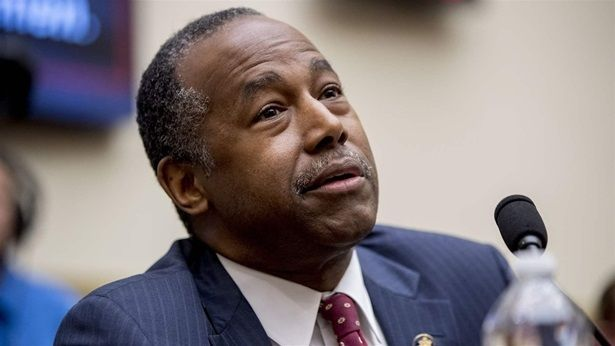 Housing and Urban Development Secretary Ben Carson testifies at a House Committee on Financial Services oversight hearing on