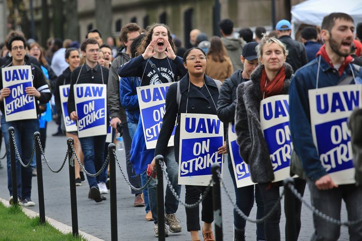 Grad students at Columbia University went on strike last year after the school refused to recognize their union. Now the scho