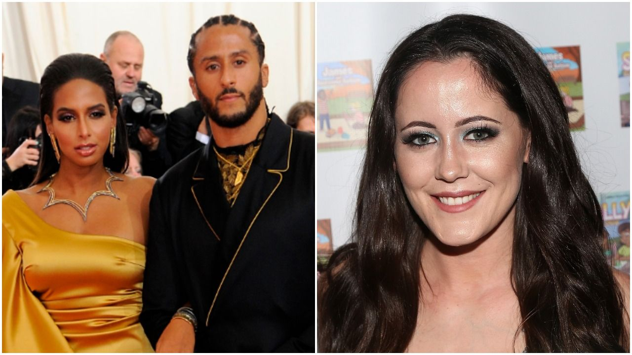 Nessa Diab and Colin Kaepernick, Jenelle Evans (Getty Images).