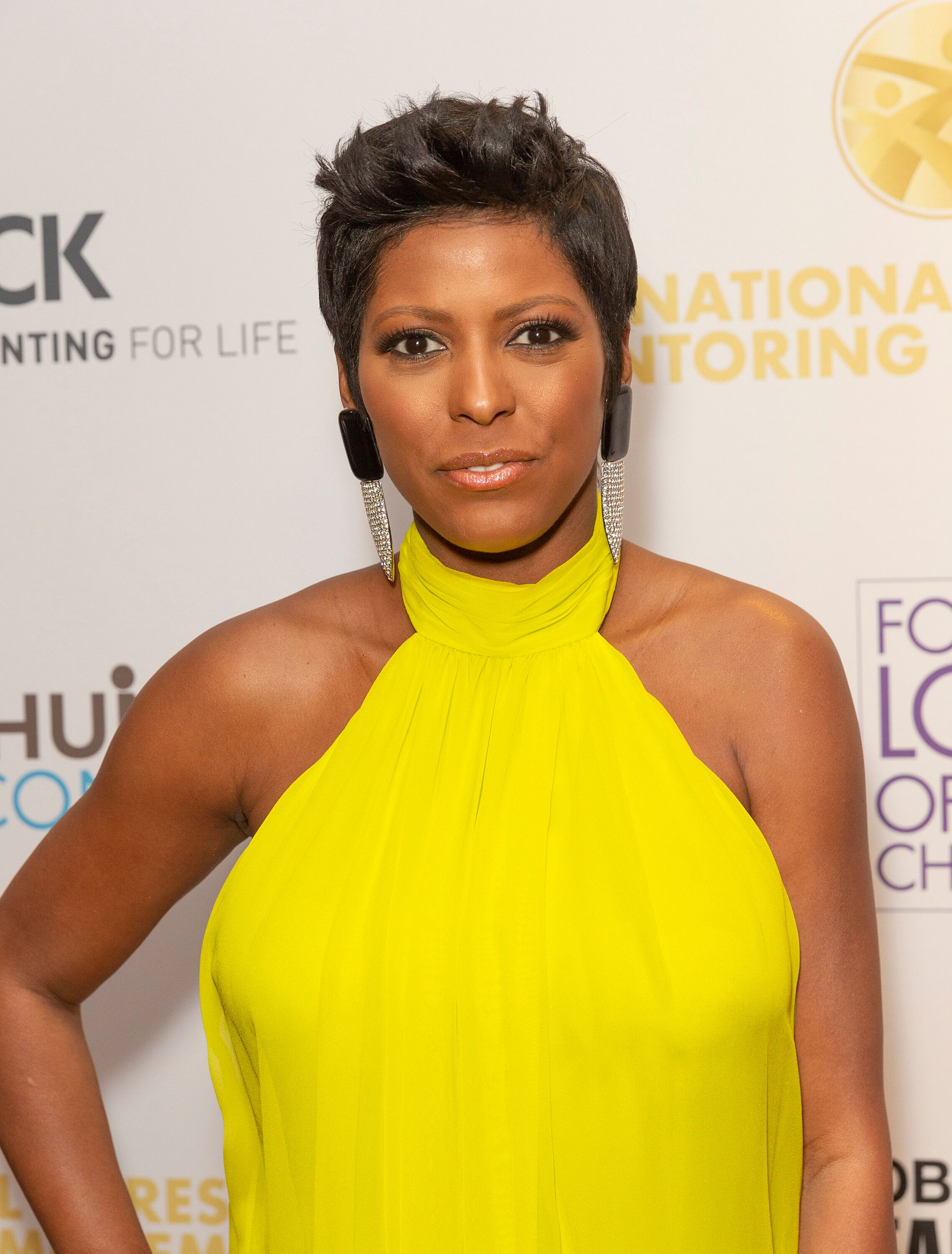 ZIEGFELD BALLROOM, NEW YORK, UNITED STATES - 2019/02/11: Tamron Hall wearing dress by Cushnie attends For the Love of Our Children National CARES Mentoring Movement Gala at Ziegfeld Ballroom. (Photo by Lev Radin/Pacific Press/LightRocket via Getty Images)