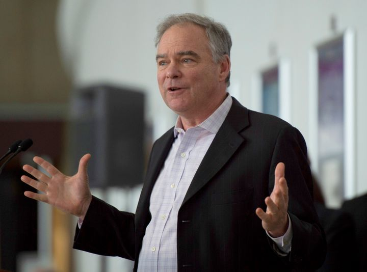 Sen. Tim Kaine (above) has said the bill he and Senate Majority Leader Mitch McConnell introduced would not allow states to p