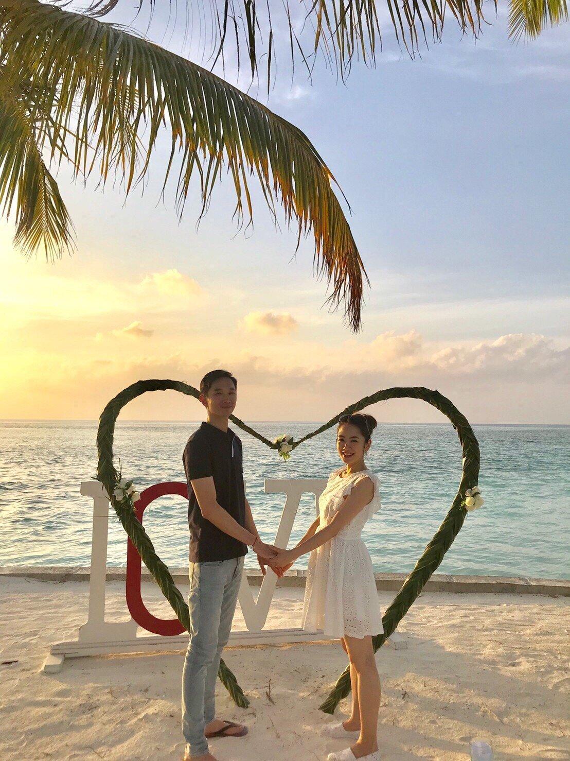 ▲楊千霈與先生都是第一次去海島國家,決定把彼此的第一次獻給馬爾地夫。