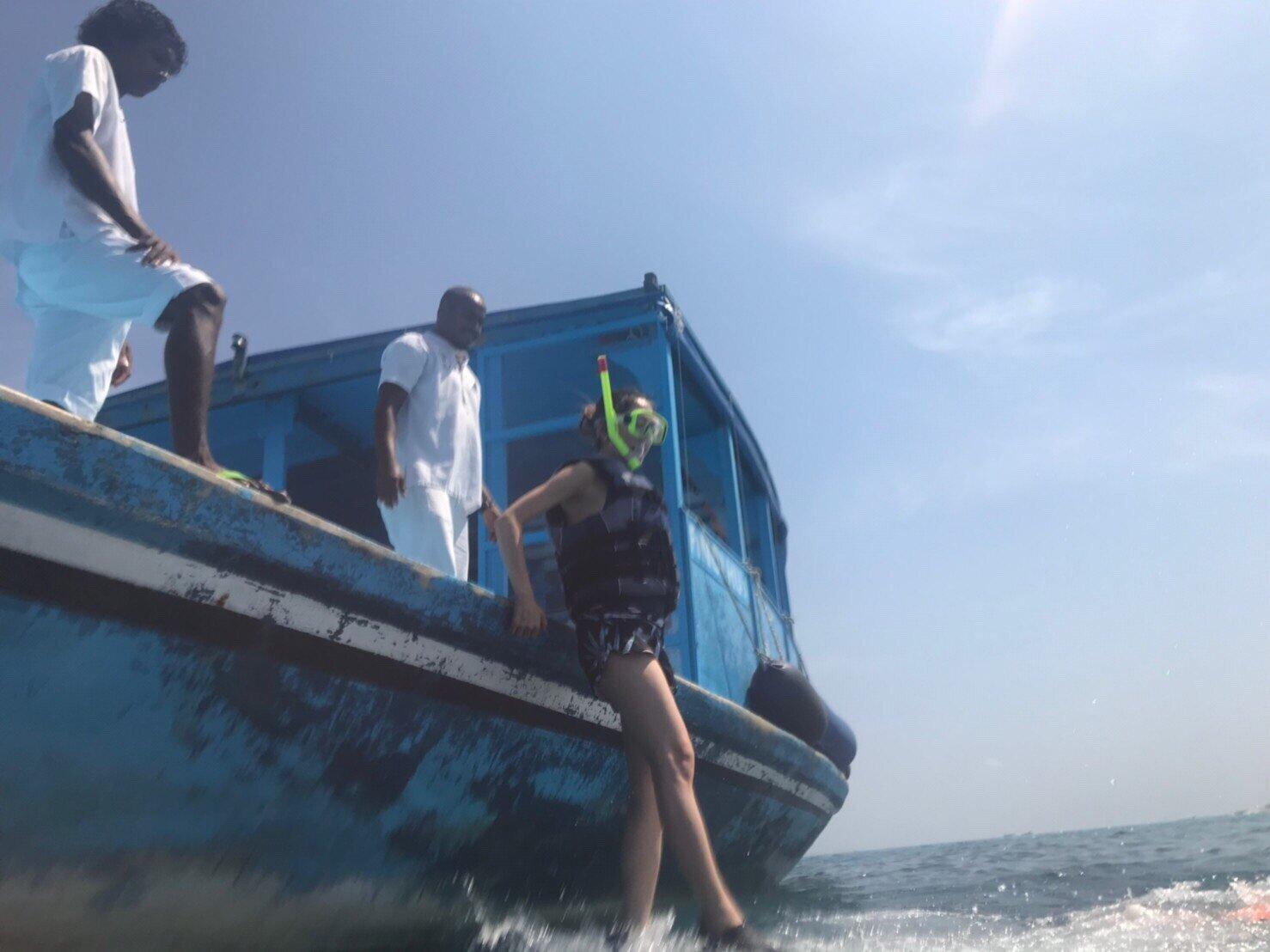 ▲楊千霈考慮了很久,在健康許可下,與先生一起下海探索世界。
