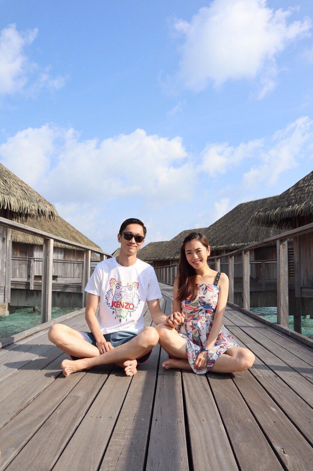 ▲楊千霈與先生在旅行中,更認識彼此也更了解彼此。