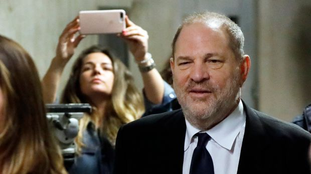 Harvey Weinstein leaves State Supreme Court in New York for a lunch break, Friday, April 26, 2019. A judge decided Friday to hold a pretrial hearing in Weinstein's sexual assault case in secret, saying the former movie mogul's right to a fair trial outweighed news organizations' arguments for keeping the courtroom open. Both the prosecution and defense asked that the hearing be held behind closed doors because it focuses on sensitive matters. (AP Photo/Richard Drew)
