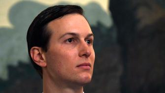 White House adviser Jared Kushner listens during a proclamation signing with President Donald Trump and Israeli Prime Minister Benjamin Netanyahu in the Diplomatic Reception Room at the White House in Washington, Monday, March 25, 2019. (AP Photo/Susan Walsh)