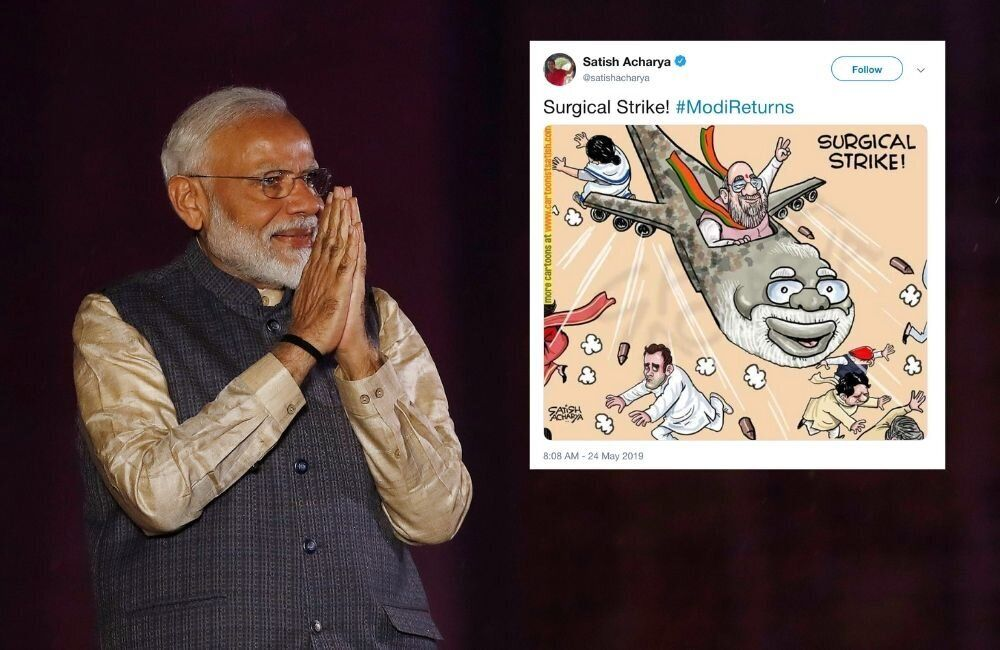 How Political Cartoonists Reacted To The Indian Election
