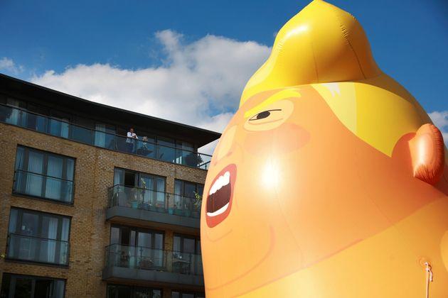 去年挙げられたトランプの「赤ちゃんバルーン」が今年も準備されている。手入れされ、6月のトランプ大統領のイギリス訪問前にメディアに公開された。