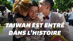 Taïwan célèbre des dizaines de mariages homosexuels, les premiers en