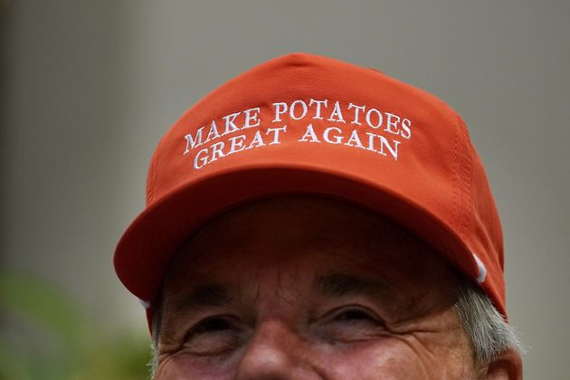 Dan Moss, of the National Potato Council, dons his 'Make Potatoes Great Again' hat before joining U.S....