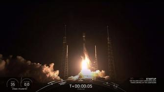 The SpaceX Falcon 9 rocket carrying 60 Starlink satelites blasted off from Cape Canaveral, Florida (AFP Photo/HO)