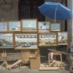 Ο απίθανος Μπάνκσι έστησε πάγκο με πίνακες σε δρόμο της Βενετίας και έγινε