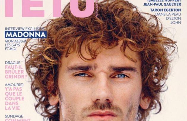 Antoine Griezmann in copertina della rivista Lgbt: