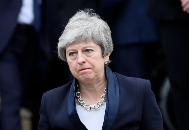 Theresa May à Belfast en Irlande du Nord le 24 avril