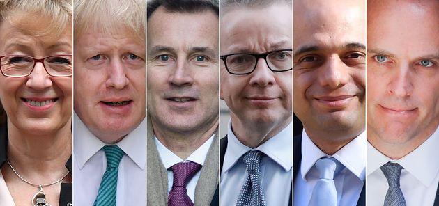 Angela Leadsom, Boris Johnson, Jeremy Hunt, Michael Gove, Sajid Javid et Dominic Raab sont les principaux...