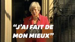 L'émotion de Theresa May, au bord des larmes, pour sa