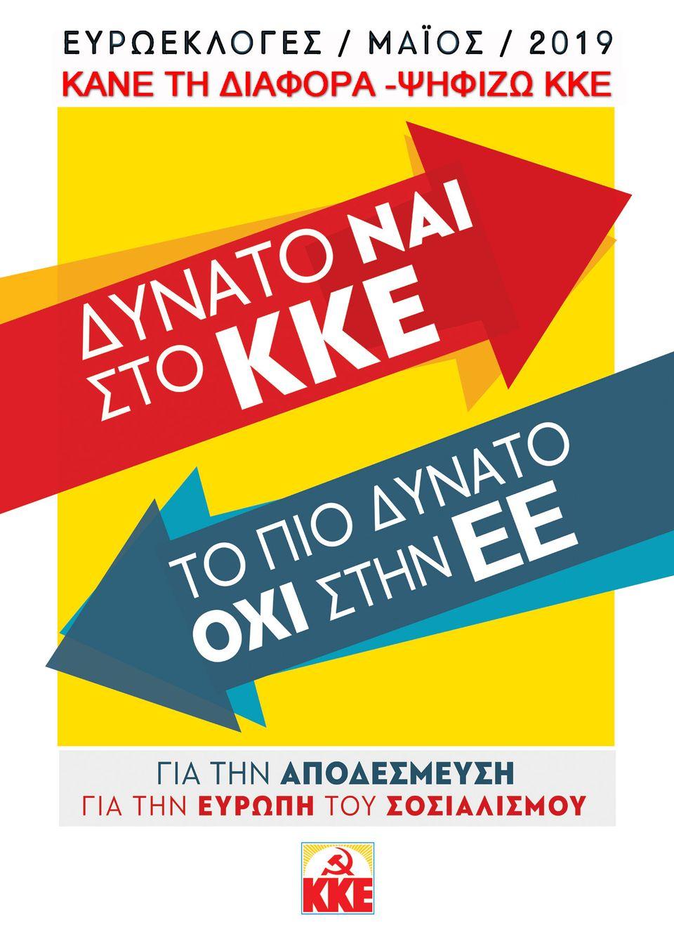 Κεντρική αφίσα του ΚΚΕ για τις Ευρωεκλογές