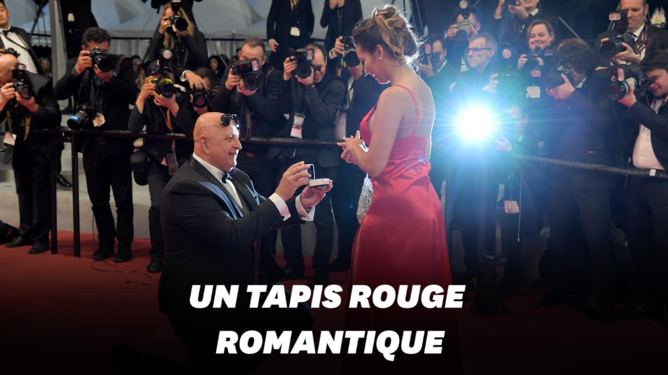 Au Festival de Cannes, une demande en mariage sur le tapis
