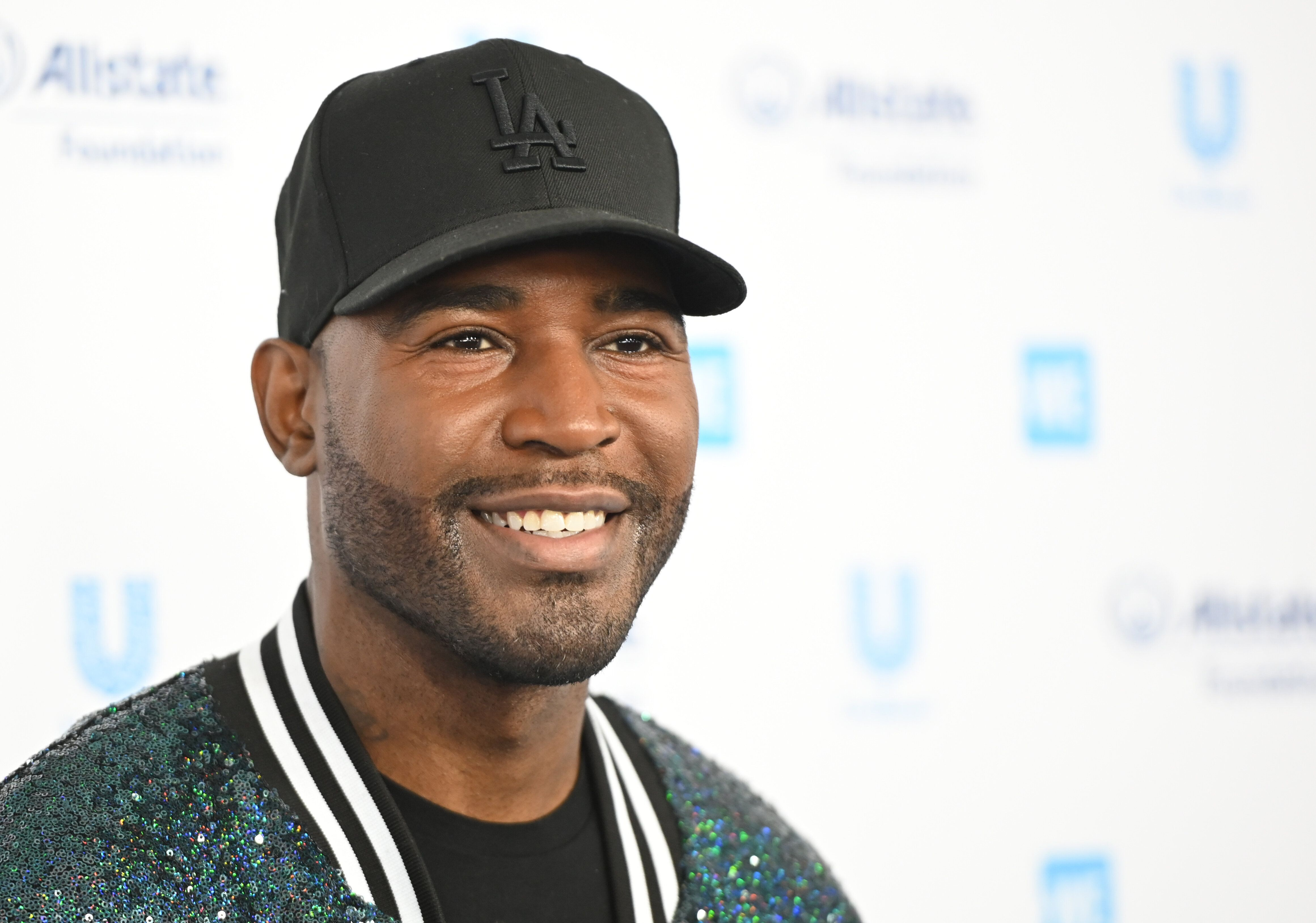 TV personality Karamo Brown arrives for WE Day California at the Forum in Inglewood, California on April 25, 2019. - WE Day is the worlds largest youth empowerment event combining the energy of a live concert with the inspiration of extraordinary stories of leadership and change. WE Day California will bring together world-renowned speakers and award-winning performers to celebrate the tens of thousands of young people from across California who have made a difference in their community. (Photo by Robyn BECK / AFP)        (Photo credit should read ROBYN BECK/AFP/Getty Images)