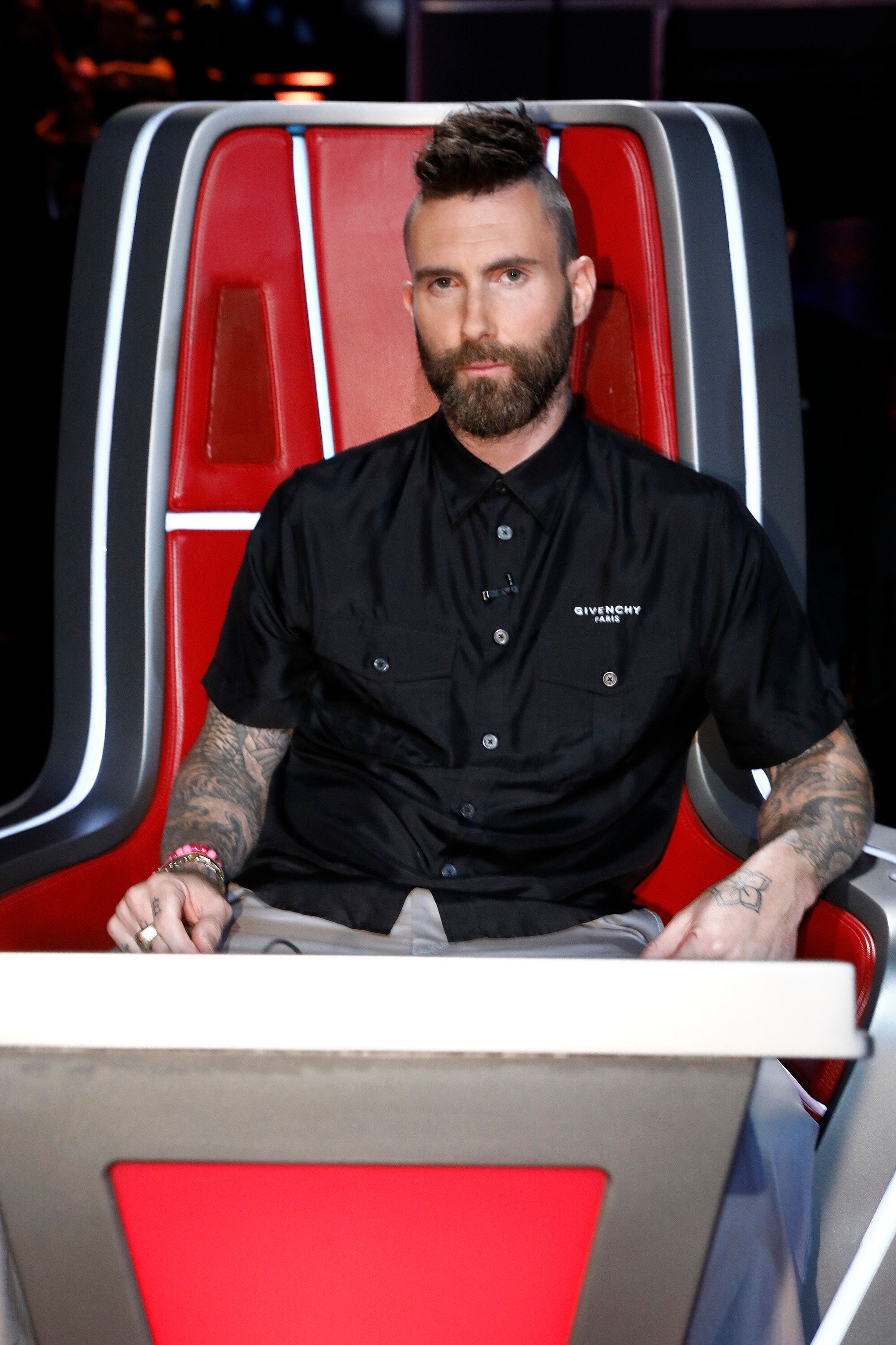 "THE VOICE -- ""Live Top 8 Results"" Episode 1615B -- Pictured: Adam Levine -- (Photo by: Trae Patton/NBC/NBCU Photo bank)"