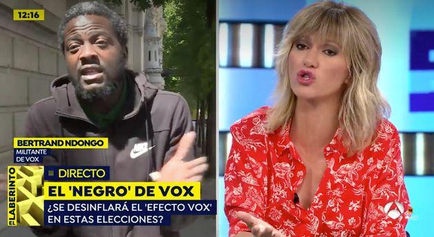 Susanna Griso y 'el negro' de Vox en 'Espejo