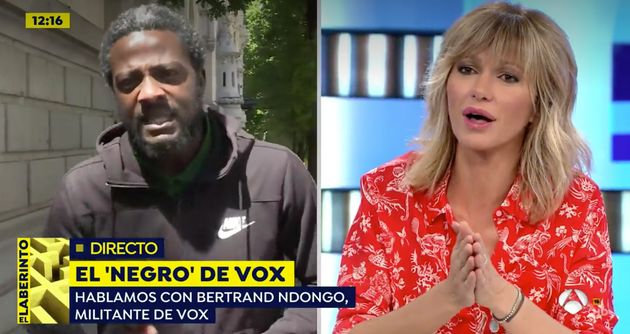 Susanna Griso y 'el negro de Vox' en 'Espejo Público' (Antena