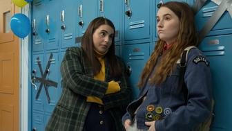 "Beanie Feldstein (left) and Kaitlyn Dever (right) in ""Booksmart."""