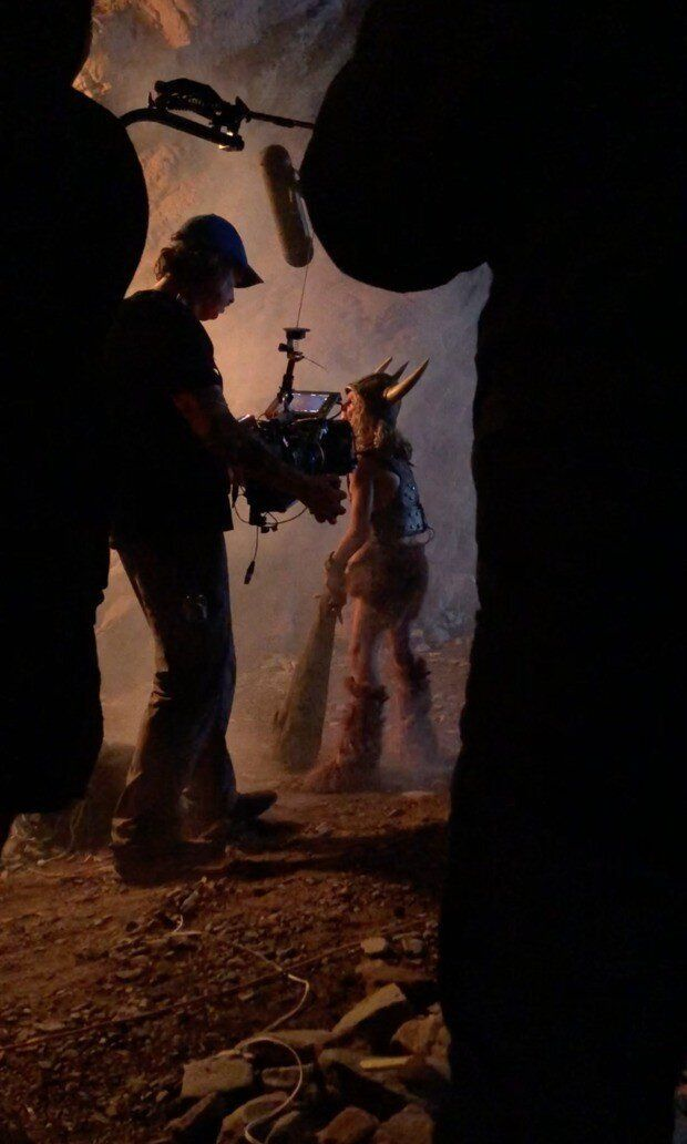 Uma das fotos que circularam na internet mostrava uma gravação com o personagem