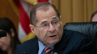 """House Judiciary Committee Chairman Jerrold Nadler, D-N.Y., leads his panel on a hearing about executive privilege and congressional oversight, on Capitol Hill in Washington, Wednesday, May 15, 2019. The White House sharply escalated its resistance to congressional attempts to investigate President Donald Trump, notifying the House Judiciary panel Wednesday that it would refuse to comply with sweeping requests for documents and witness testimony while declaring that the legislative branch had no right to a """"do-over"""" of the special counsel's Russia probe. (AP Photo/J. Scott Applewhite)"""