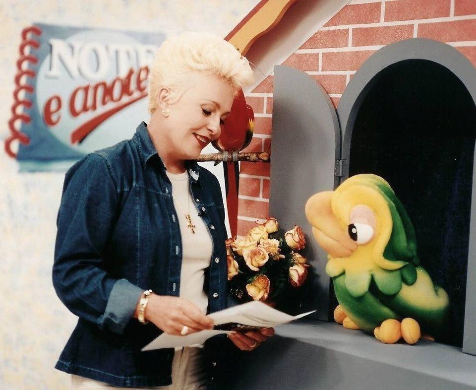 Ana Maria e seu companheiro Louro José no Note e Anote, programa que foi ao ar entre 1995 na TV