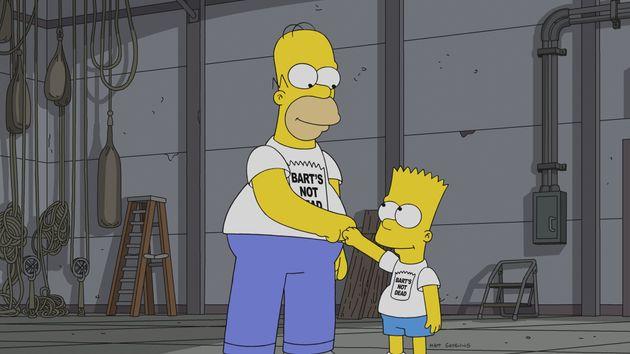 Cena deBart's Not Dead, episódio nº 640, que estabeleceu Os Simpsons como série...