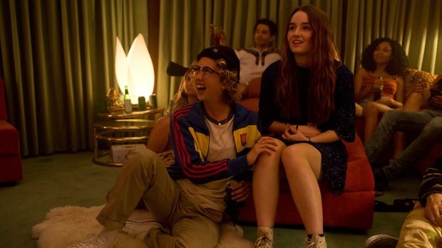 Victoria Ruesga stars as Ryan and Kaitlyn Dever as Amy in Olivia Wilde's directorial debut, BOOKSMART.