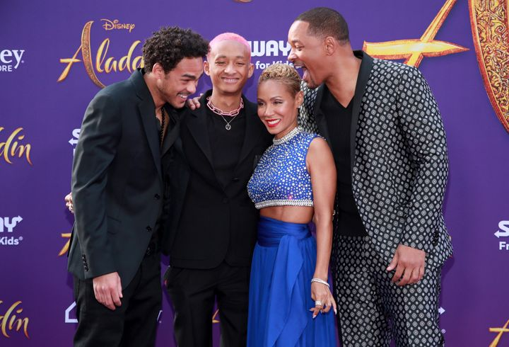 Will Smith is possibly making fun of Jaden for being so late.